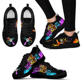 Dog Groomer Love Art Shoes Sneakers, Running Shoes, Shoes For Womens, Mens, Custom Shoes, Low Top Shoes, Customized Sneaker