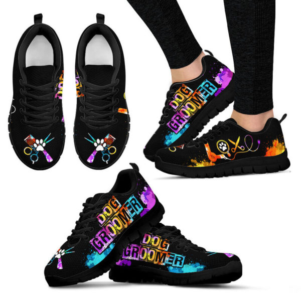 DOG GROOMER LOVE ART SHOES@ springlifepro doggro948@sneakers 270214