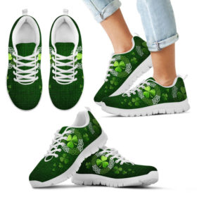 Irish Shamrock & Vector Circle Celtic Shoes Sky Sneakers, Running Shoes, Shoes For Womens, Mens, Custom Shoes, Low Top Shoes, Customized Sneaker