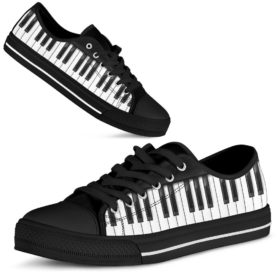 Piano Shortcut Low Top Shoes License Plate Shoes for Mens, Womens Tennis Custom Shoes, Custom Low Top