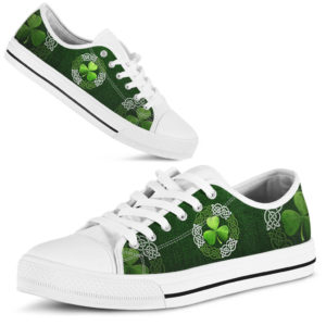 Irish Shamrock & Vector Circle Celtic Low Top@ springlifepro FHFGJG@low-top 253725