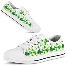 Irish Music Shamrocks Patterns Sky Shoes License Plate Shoes for Mens, Womens Tennis Custom Shoes, Custom Low Top