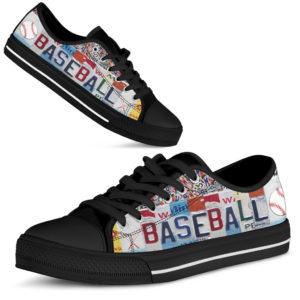 BASEBALL license plates LOW TOP BLACK@ springlifepro BASEBALL3352@low-top 245358