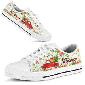 """Blessed Skiing Mom low top@ springlifepro blessmom878@low-top"""" 243378"""