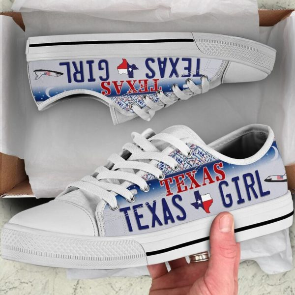 TEXAS GIRL license plates low top 2@ springlifepro TEXAS5245@low-top 243070
