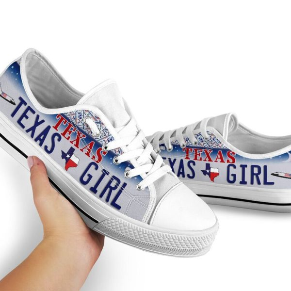 TEXAS GIRL license plates low top 2@ springlifepro TEXAS5245@low-top 243066