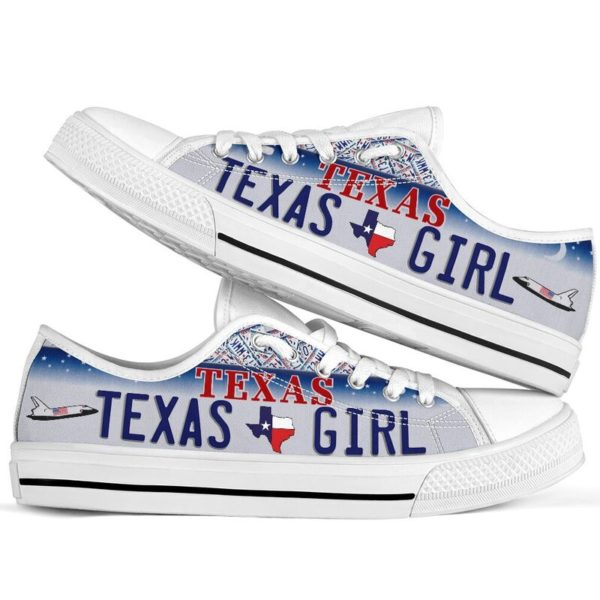 TEXAS GIRL license plates low top 2@ springlifepro TEXAS5245@low-top 243065