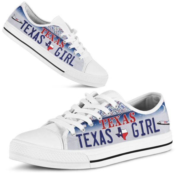 TEXAS GIRL license plates low top 2@ springlifepro TEXAS5245@low-top 243064