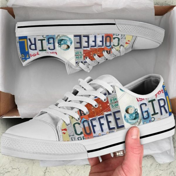 """coffee girl license plates LOW TOP@ springlifepro coffee3465@low-top"""" 242170"""