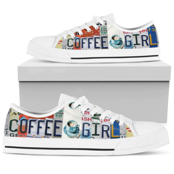 """coffee girl license plates LOW TOP@ springlifepro coffee3465@low-top"""" 242169"""