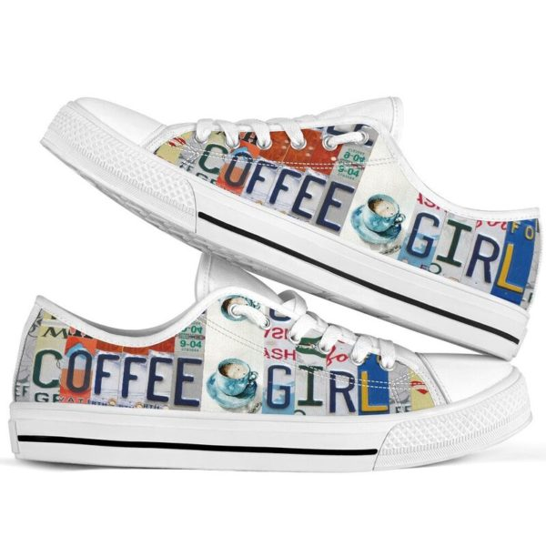 """coffee girl license plates LOW TOP@ springlifepro coffee3465@low-top"""" 242165"""