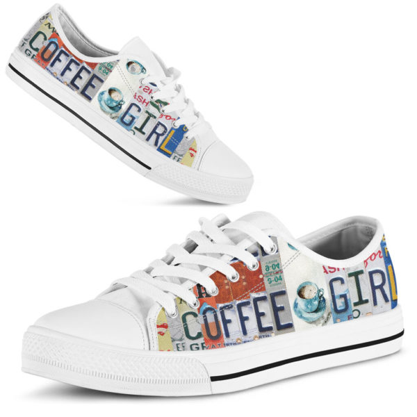 """coffee girl license plates LOW TOP@ springlifepro coffee3465@low-top"""" 242163"""