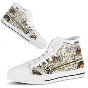 """German Shepherd camper shoes@ shoesnp dt 9 German Shepherd camper shoes@high-top"""" 236313"""