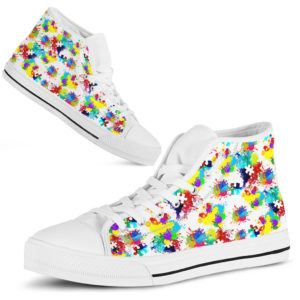 Autism Awareness Sneakers Shoe Colorful@ abigboomusa Autism Awareness Sneakers Shoe Colorful@high-top 231569
