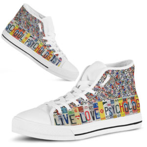 """School Psychologist live love license plates hight top@ proudteaching Schoovd5v4@high-top"""" 229409"""