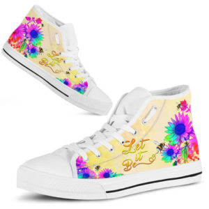 Bee High Top Shoes@ rockinbee flower be 248@high-top 227202