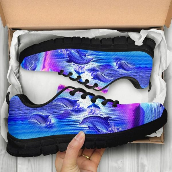 Purple sky Dolphin jumping sneakers NAL 392806