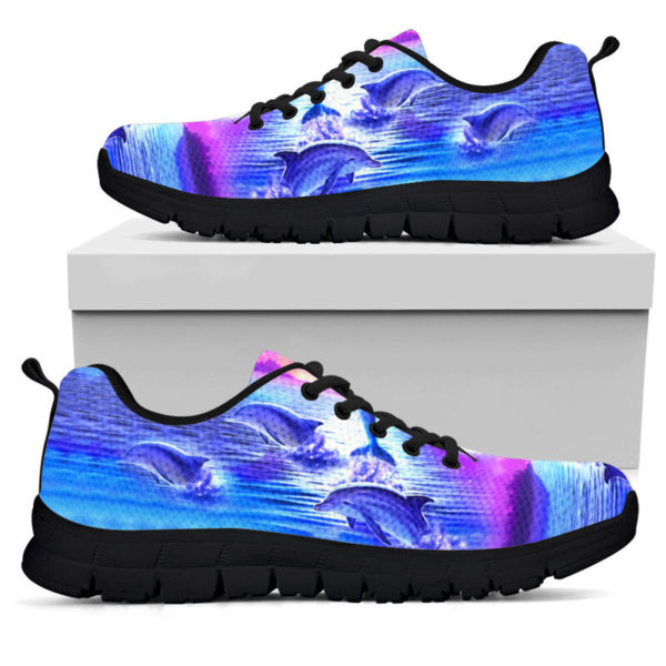 Purple sky Dolphin jumping sneakers NAL 392805
