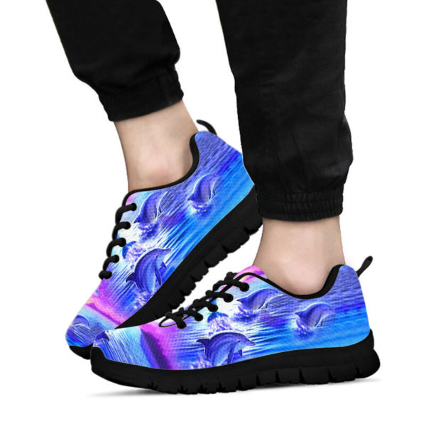 Purple sky Dolphin jumping sneakers NAL 392804