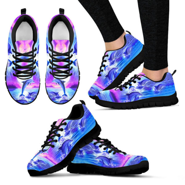 Purple sky Dolphin jumping sneakers NAL 392803
