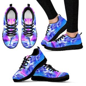 Purple sky Dolphin jumping sneakers NAL 392802