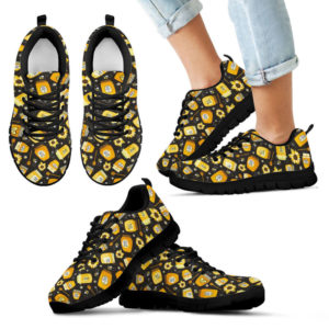 Bee Honey Sunflower Pattern SNEAKERS NAL 392172