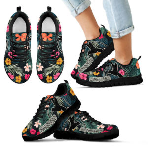 Hummingbird With Tropical Hibiscus Overdrive Sneaker - SR 387700