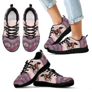 Horse Vintage Mandala Pink Shoes SKY2 386882