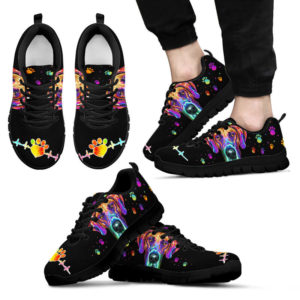 Great Dane dog art colorful shoe TTA 385558
