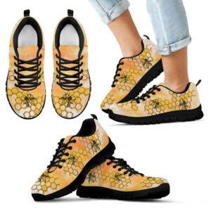 Bee honeycomb painting sneakers NAL 384613