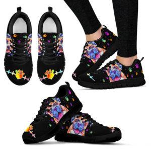 Boxer dog art colorful shoe TTA 384172
