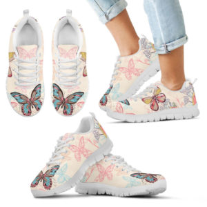 Butterfly Flowers Colorful SNEAKERS 383478