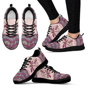 Dragonfly Vintage Mandala Pink Shoes SKY2 379438