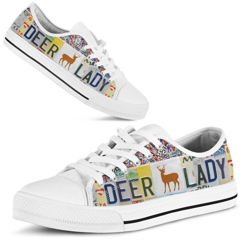 Deer Lady license plates low top 374768