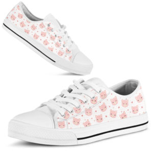 Pig Pink Lovely Heart Low Top 373101