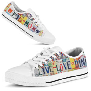 PIG MOM LIVE LOVE OINK license plates LOW TOP 372246