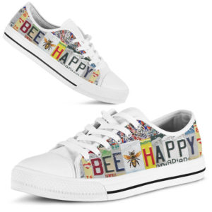 bee happy license plates low top 370626
