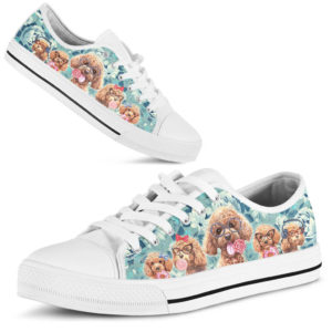Poodle dog flowers AT Low Top TTA 370086