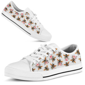 Bee flower draw vintage low top - LQT 369591