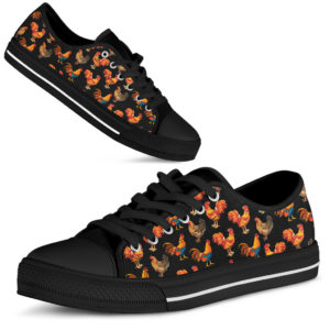 rooster chicken pattern low top LQT 367161