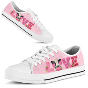 Cow Love Rose pink lowtop 365901