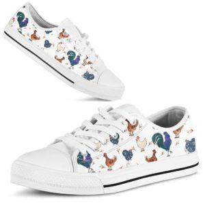 Chicken watercolor cute low top LQT 365046