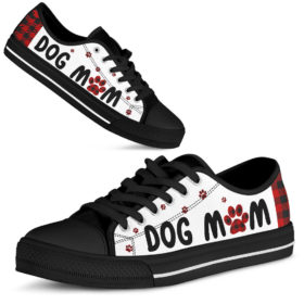 Dog Mom Low Top Shoes for Mens, Womens Tennis Custom Shoes, Custom Low Top, Personalised Sneaker Shoes