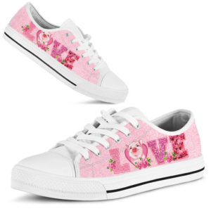 Pig Love Rose pink lowtop 362706