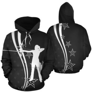 Archery USA flag star blue full hoodie 354977