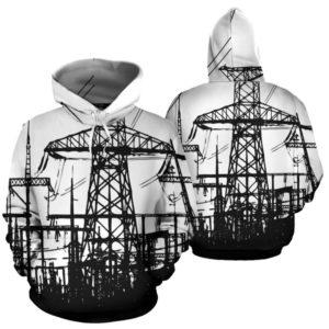 ELECTRICIAN PRINT HOODIE 354509