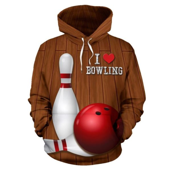LOVE BOWLING ALL OVER FULL HOODIE 354195