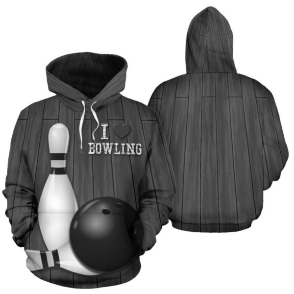LOVE BOWLING ALL OVER FULL HOODIE 354194
