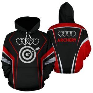 archery line art full hoodie 352473