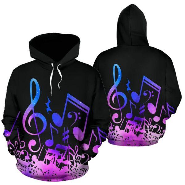 Music note galaxy full hoodie 352135